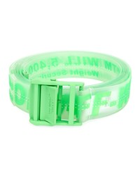 Off White Rubber Industrial Belt Green