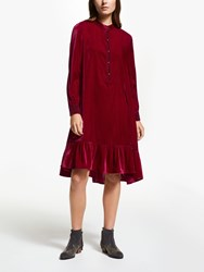 And Or Fifi Velvet Dress Red