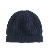 J.Crew Chunky Ribbed Hat Navy