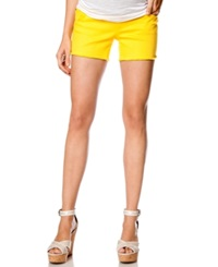 A Pea In The Pod Maternity Colored Cutoff Denim Shorts Marigold