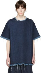 Marques Almeida Indigo Denim T Shirt Dress