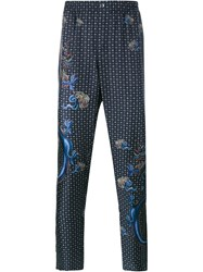 Dolce And Gabbana Dragon Print Silk Pyjama Trousers Grey