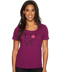 Life Is Good Love Snuggle Up Sleep Tee Deep Plum Women's Pajama Purple