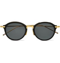 Thom Browne Round Frame Acetate And Gold Tone Sunglasses Gold