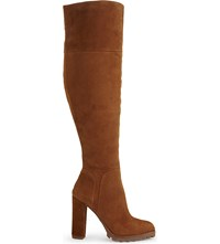 Aldo Sambuca Suede Over The Knee Boots Cognac
