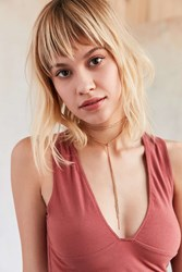 Urban Outfitters Wheat Chain Wrap Choker Necklace Gold