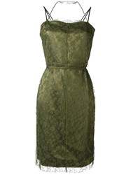 Nina Ricci Short Fitted Dress Green
