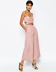 Asos Two In One Jumpsuit Dusky Pink