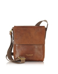 The Bridge Sfoderata Marrone Leather Men's Crossbody Bag Dark Brown