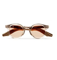 Jacques Marie Mage Felix Round Frame Acetate Sunglasses Brown