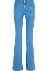 Stella Mccartney Mid Rise Flared Jeans Blue