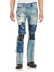 Prps Distressed And Patchwork Jeans Indigo