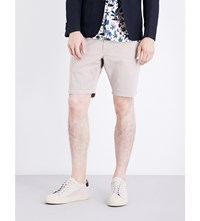 Paul Smith Regular Fit Mid Rise Stretch Cotton Shorts Beige