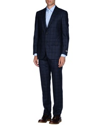 Belvest Suits Dark Blue