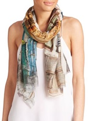 Tilo Windows Cotton And Modal Scarf Multi