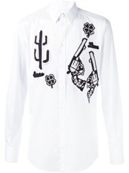 Dolce And Gabbana Western Patch Shirt White