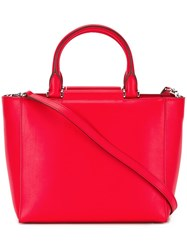 Max Mara Double Carry Tote Bag Red