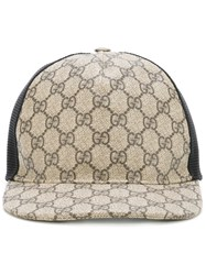 Gucci Gg Supreme Baseball Cap Brown