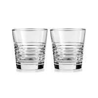 Vera Wang Wedgwood Grosgrain Platinum Dof Glasses Set Of 2