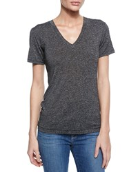 Rag And Bone Classic Cotton V Neck Tee Charcoal Grey