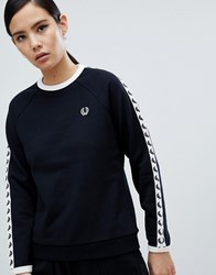 Fred Perry Taped Sweatshirt Black