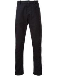 Assin Five Pocket Skinny Trousers Black