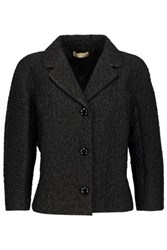 Michael Kors Collection Wool Blend Cloque Jacket Black
