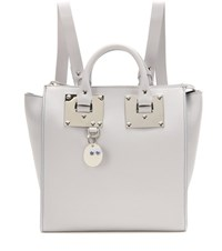 Sophie Hulme Holmes Small Leather Backpack Grey
