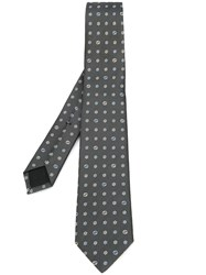 Gucci Flower Pattern Tie Grey