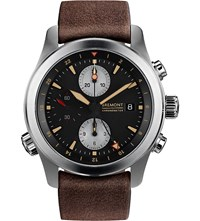 Bremont Alt1 Zt 51 Stainless Steel And Leather Chronograph Watch