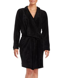 Lord And Taylor Fleece Robe Black