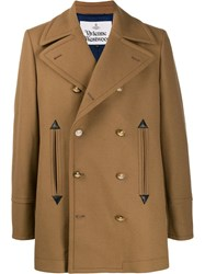 Vivienne Westwood Fitted Double Breasted Coat Brown