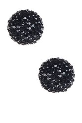 Natasha Accessories Tri Color Faceted Ball Stud Earrings Metallic