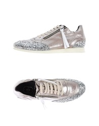 Bb Washed By Bruno Bordese Low Tops And Trainers Silver