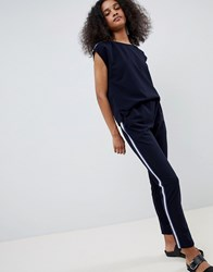 Mbym Relaxed Jumpsuit Night Sky Lurex Navy