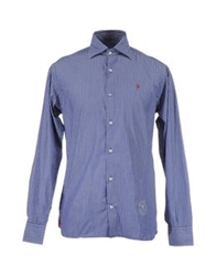 Jaggy Long Sleeve Shirts Blue