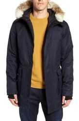 Nobis Yves Windproof And Waterproof 650 Fill Power Down Parka With Genuine Coyote Fur Trim Navy