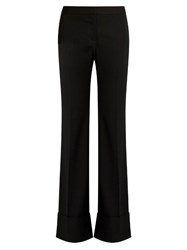 Stella Mccartney Josh Mid Rise Flared Leg Wool Trousers Black