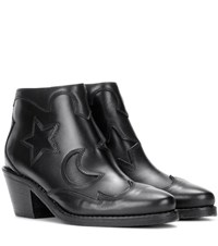 Mcq By Alexander Mcqueen Solstice Leather Ankle Boots Black