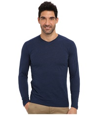Agave Denim Medford L S V Neck Sodalite Blue Men's T Shirt