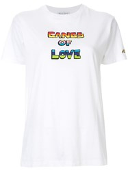 Bella Freud 'Gangs Of Love' T Shirt White