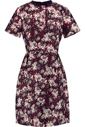 Mother Of Pearl Bentley Printed Cotton And Silk Blend Mini Dress Red