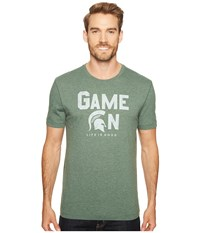 Life Is Good Michigan State Spartans Game On Cool Tee Dark Green Men's T Shirt