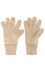 Hat Attack Basic Texting Gloves In Beige. Oat
