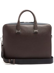 Dunhill Cadogan Bi Colour Leather Briefcase Brown