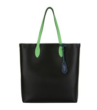 Burberry Contrast Handle Tote Black