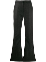 Alexander Mcqueen Flared Tailored Trousers Grey