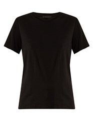 The Row Wesler Short Sleeved Cotton Jersey T Shirt Black