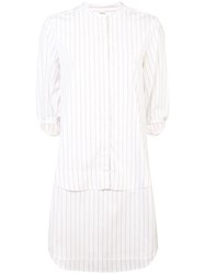 Maison Rabih Kayrouz Striped Poplin Dress White