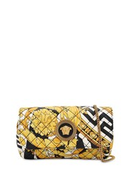 Versace Mini Icon Print Quilted Leather Bag Nero